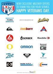 Veterans Day Discounts from SheerID