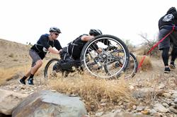 Hand cycling at Adventure Team Challenge Colorado