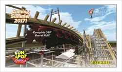 Fun Spot America's new roller coaster 2017