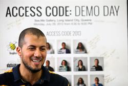 Moawia Eldeeb, a graduate of Robin Hood-funded Coalition for Queens and CEO and co-founder of SmartSpot. Moawia was named a 2016 Robin Hood Hero.