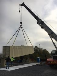 Photo 1: Crane Assisted Unloading