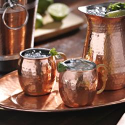 Curved Handle Moscow Mule Copper Mugs