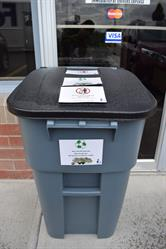 DawsCo's recycling bin outside The Boutique.