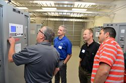 Pictured above: Don Imlay, Manager of Training and Support for SCI, demonstrates the key features of the Digital ProcessPower (DPP) UPS from AMETEK Solidstate Controls to training course participants.