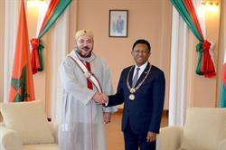 Morocco's King Mohammed VI with President of Madagascar Hery Rajaonarimampianina.