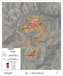 Figure 3: North Stock and Antelope Basin 2016 Drill Holes and Historic Drill Highlights