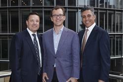 L to R: Chris Hynes, DEXUS Head of Leasing; Karl Knight, RocketSpace President; Kevin George, DEXUS Executive General Manager, Office & Industrial