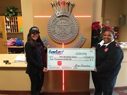 Evenflow Plumbing Donates to Salvation Army