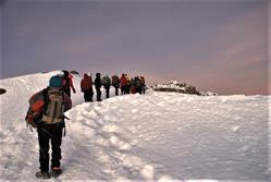 2007 team nears the Kilimanjaro summit