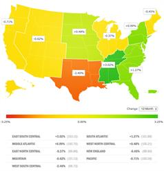 Small Business Jobs Index: Regional Heat Map, December 2016