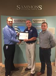 Sammons Financial Group employee receives Department of Defense Patriot Award