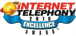 Internet Telephony 2016 Excellence Award Logo