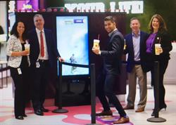 From left to right:  Giovanna Verilli, Associate Director for Retail Food and Beverage, GTAA  Scott Collier, VP Customer and Terminal Services  Raoul Bhatt, CEO, Bhatt.ca  Dale Wishewan, CEO, Booster Juice  Suzanne Merrell, Senior Manager Food and Beverage, GTAA