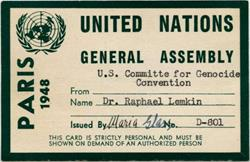Raphael Lemkin - United Nations