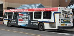 Le nouveau contrat quinquennal entrant en vigueur le 1er janvier 2017 concerne une flotte de 55 autobus avec des espaces publicitaires à l'extérieur et à l'intérieur de chacun des véhicules.