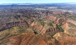 Aerial view of Verde Canyon