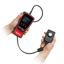 AccuPRO (XP-2000) has dual-wavelength sensor detector that measures UV and visible light