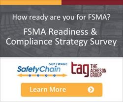 SafetyChain Software and The Acheson Group FSMA Readiness Survey