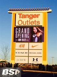 Tanger Outlets LED Sign