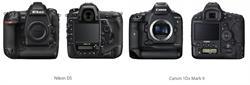Nikon D5 DSLR vs Canon 1DX Mark II Lineup