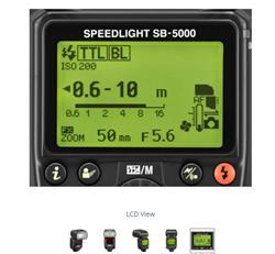 Nikon SB-5000 Flash - LCD View