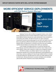 Dell Active System Manager offered faster, simpler service deployments.