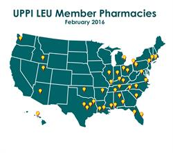 UPPI map of pharmacy locations which offer LEU