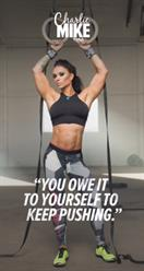 """""""You owe it to yourself to keep pushing."""" - Ashley Horner"""