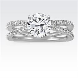 Shane Co. Diamond Engagement Ring with Split-Shank Design