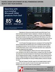 Purchase your Dell servers with pre-installed Microsoft OEM products and save time and effort