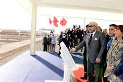 King Mohammed VI inaugurates Noor 1 in Ouarzazate, Morocco. At completion, the solar complex will be the largest in the world.