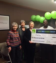 Martha Perry Celebrates Being a 1,000 Win $1,000 Daily Winner