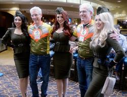 The American Bombshells and Face of America ride marshals.