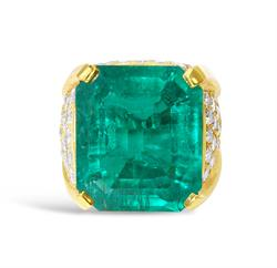24-Carat Colombian Emerald Ring