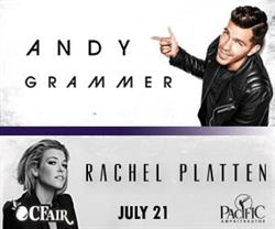 Andy Grammer / Rachel Platten Live at the Pacific Amphitheatre at the 2016 OC Fair