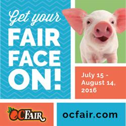 "2016 OC Fair - ""Get Your Fair Face On!"" July 15-August 14"