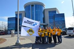 PowerStream officially commemorates Dig Safe Month with its annual flag raising ceremony held outside the company's head office in Vaughan.