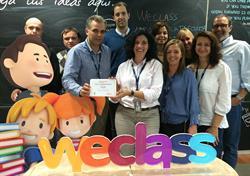 Weclass de Telefónica recibió el Premio a la Innovación Educativa para la mejor plataforma en el mercado en SIMO EDUCACIÓN 2014.