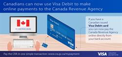 Canadians can now pay the CRA online with Visa Debit.