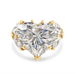 Lot 117 - 18kt Yellow Gold and 19.14ct. Heart Shape Diamond Lady's Ring