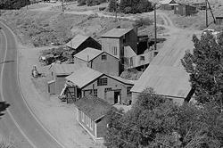 The Donovan Mill was the first cyanide process mill established on the Comstock and opened the way for the great technological revolution in metallurgy. Photo courtesy of Special Collections, UNR.