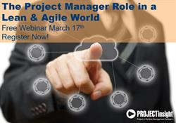 The Project Manager Role in a Lean and Agile World Webinar Registration