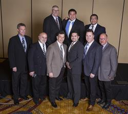 The Top 2015 RHCC Sales Performers  Back row (left to right): Bill Bradshaw, Will Chae, Ed Betos; Front row (left to right): Jim Cox, Dan Hubert, Jeff Clare, Luis Castaneda, Danny Blau, Ralf Krutein