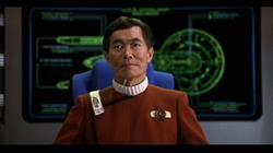George Takei as Sulu on Star Trek: The Original Series.