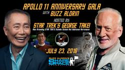 George Takei and Buzz Aldrin will host this unforgettable Gala.
