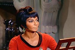 Nichelle Nichols as Uhura in Star Trek: The Original Series.