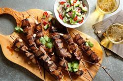 lamb skewers, lamb, grilling, kebobs, kebabs