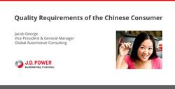Automotive Quality Requirements of the Chinese Consumer