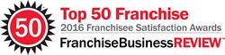 Inclusion on the Top 50 list reflects overall franchisee satisfaction as well as financial performance, the magazine said.