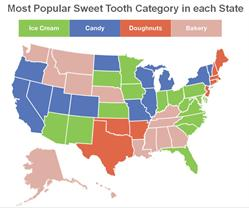 US Sweet Tooth Map
